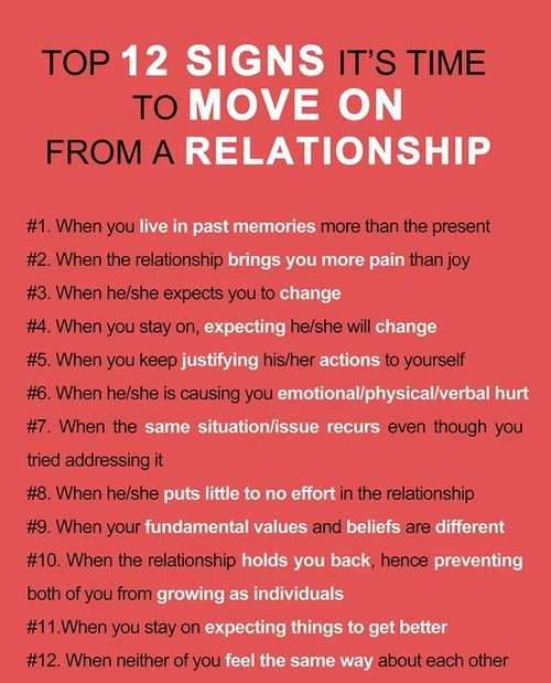 12 Signs to Move On in a Relationship