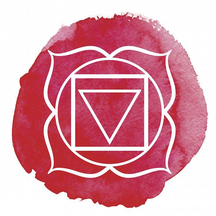Chakra Number 1 - Root Chakra Symbol