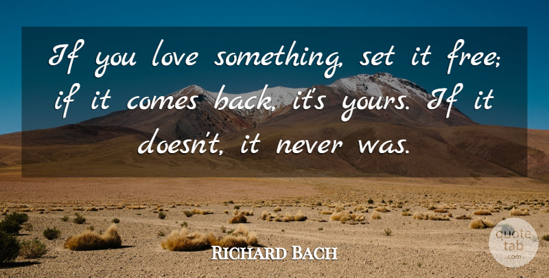 Richard Bach - If You Love Something Set it Free - Quote