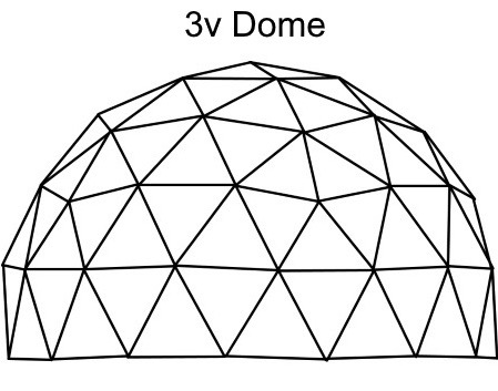 3 Frequency Dome - Zip Tie Domes