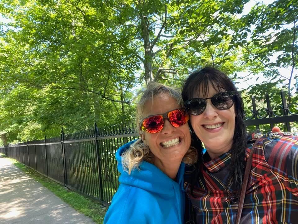 August 3rd, 2021 - Halifax, Nova Scotia - Run with, then lunch with Linda! Joyful Stephanie