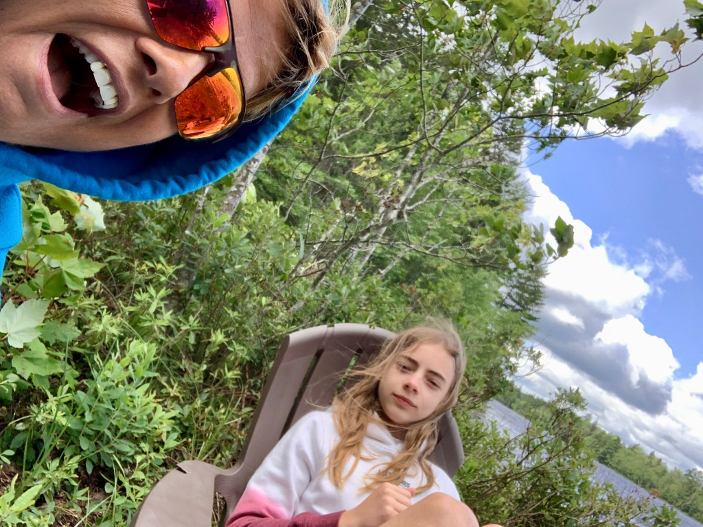July 24th, 2021 - East Uniacke, Nova Scotia - Nathan and I taking a break on Michael and I's undeveloped lakefront during our kayaking adventure on Long Lake!