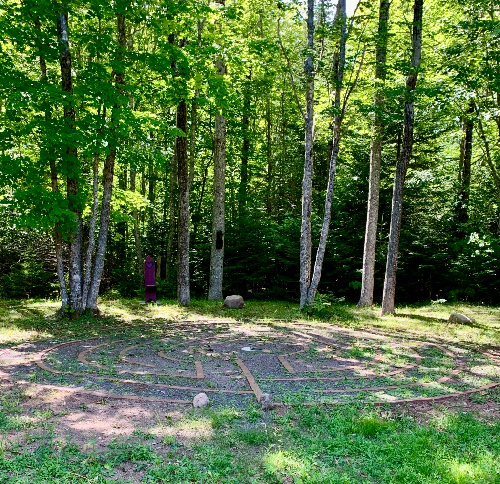 July 14th, 2021 - Truro, Nova Scotia - Visit with Tatyana, who I haven't seen in many years, and had the pleasure to walk her labyrinth