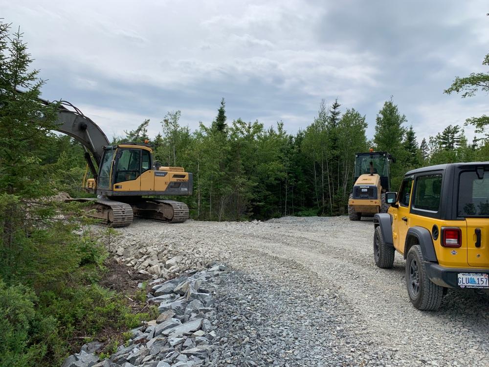 July 17th, 2021 - East Uniacke, Nova Scotia - Meek Arm Cove - Laying gravel