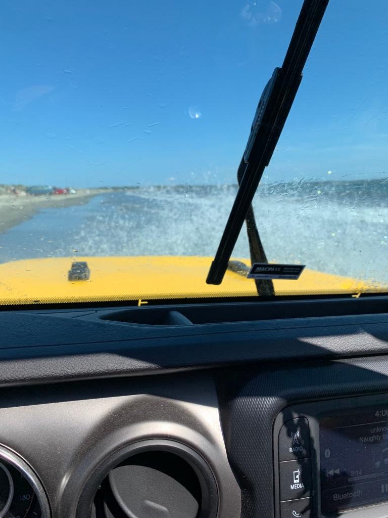August 1st, 2021 - Crescent Beach, Lockeport, Nova Scotia - Driving through waves!