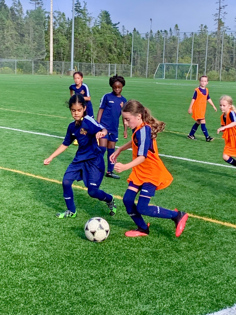 July 24th, 2021 - Upper Sackville, Nova Scotia - Laya, with the ball during soccer practice!