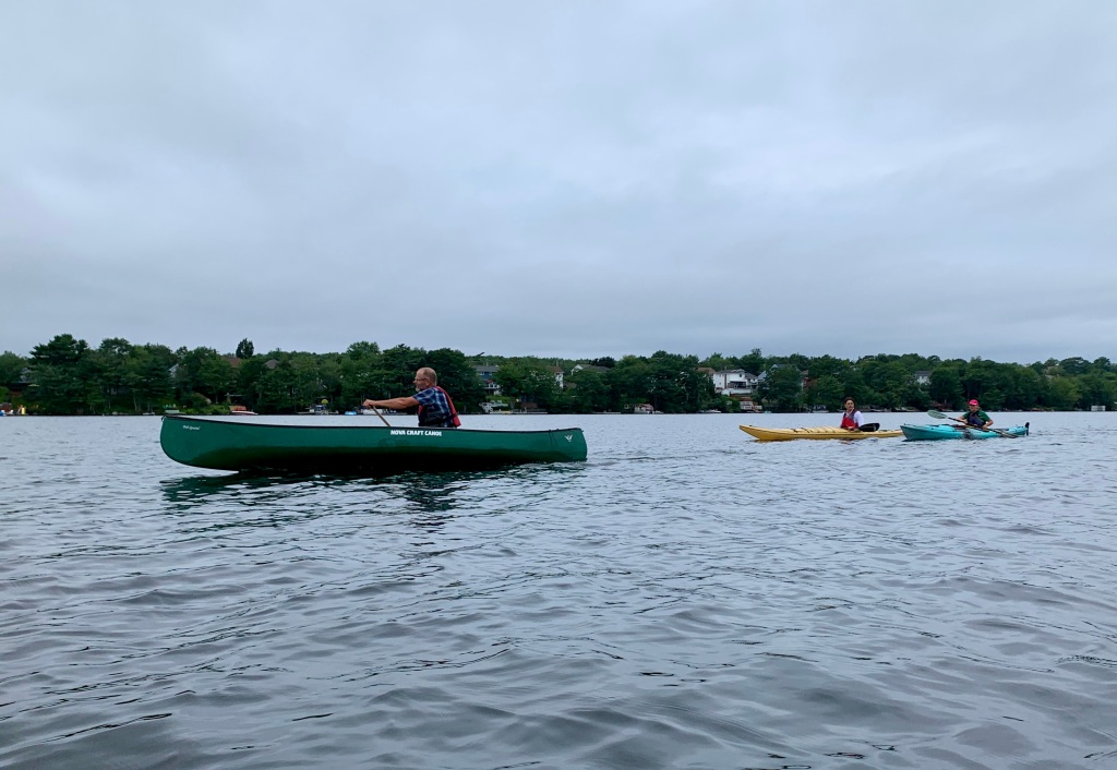 August 13th, 2021 - Morris Lake, Dartmouth, Nova Scotia - CKNS Wednesday Night Paddle - Canoeists and kayakers