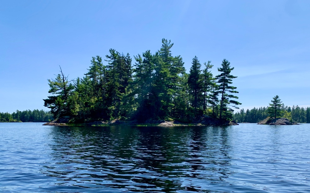 August 16th, 2021 - Long Lake, East Uniacke, Nova Scotia - One of the many islands on the lake