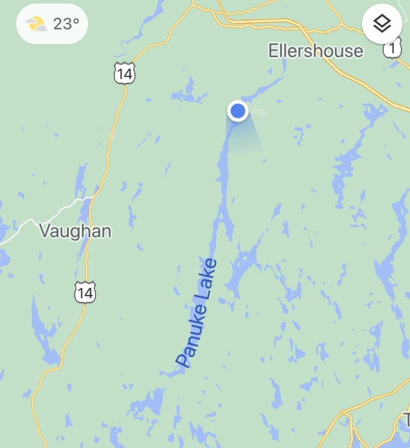 August 26th, 2021 - Google Maps - Panuke Lake Boat Launch Site