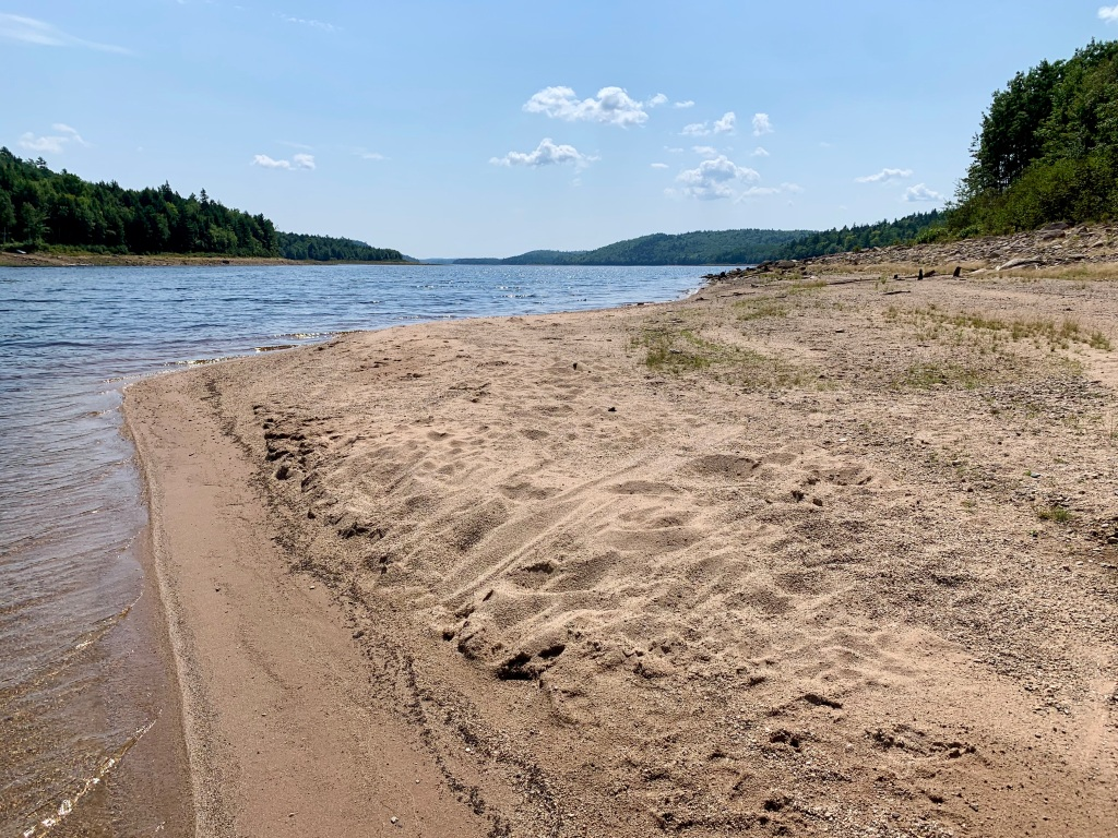 August 26th, 2021 - Panuke Lake - Human footprints in the more sandy part of the beach!