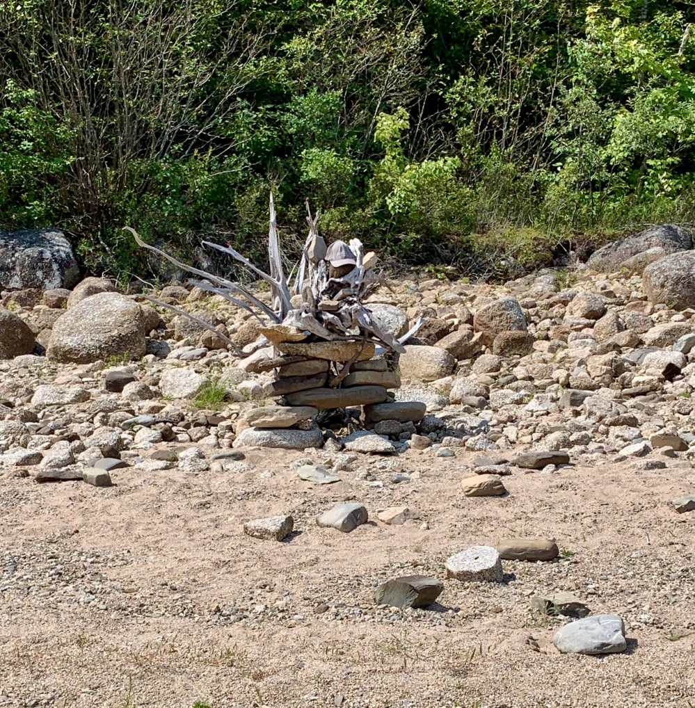 August 26th, 2021 - Panuke Lake - Interesting art on the beach!
