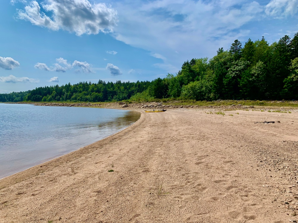 August 27th, 2021 - Card Lake - Lots of personal space at this beach!