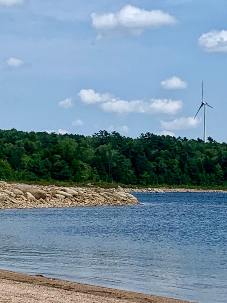 August 27th, 2021 - Card Lake - Wind turbine near the beach