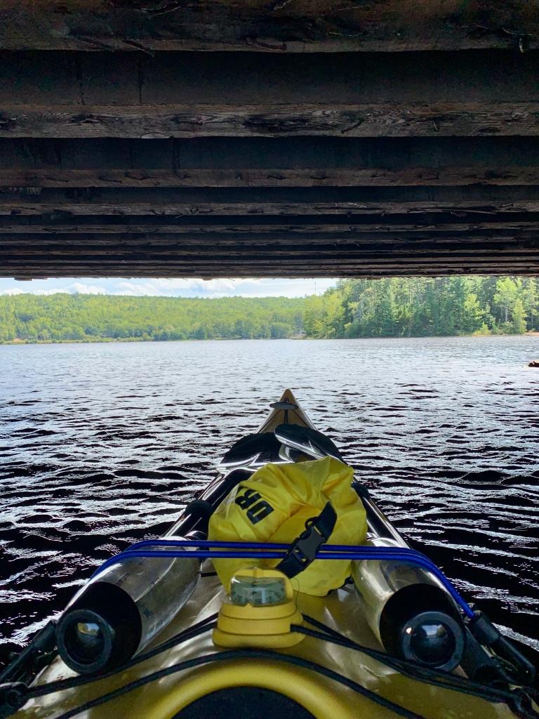 September 1st, 2021 - Mockingee Lake, Vaughan, Nova Scotia - Entering Mockingee Lake from Falls Lake - under a bridge along New Ross Road