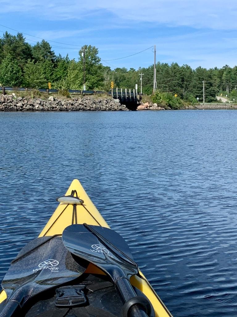 September 1st, 2021 - Mockingee Lake, Vaughan, Nova Scotia - Heading back to the bridge