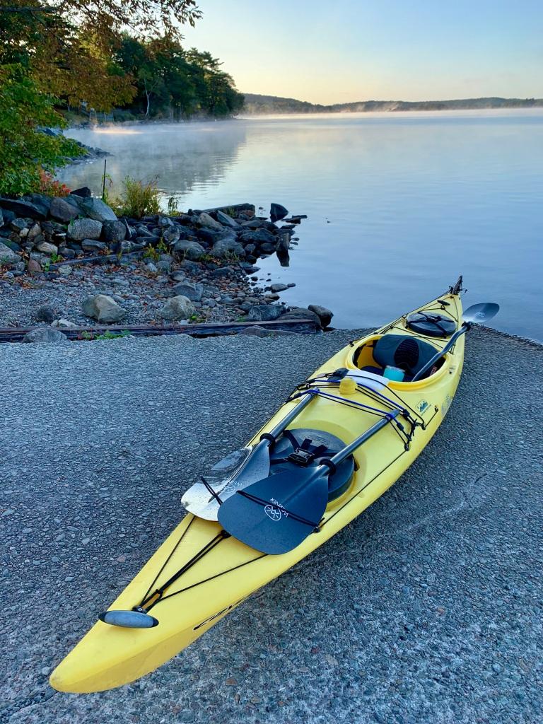 October 9th - Lake William, Waverley, Nova Scotia - Early Morning Autumn Paddle - Ready to go!