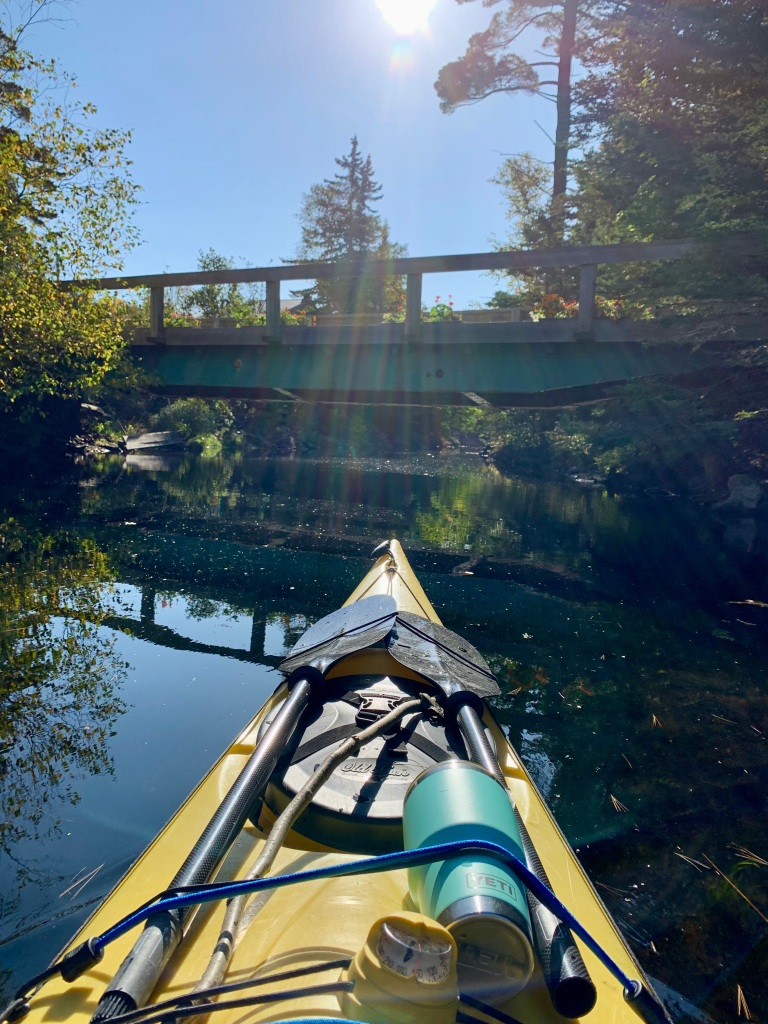 October 9th - Lake William, Waverley, Nova Scotia - Early Morning Autumn Paddle - Discovering a fun narrow route at the end/beginning of the lake!