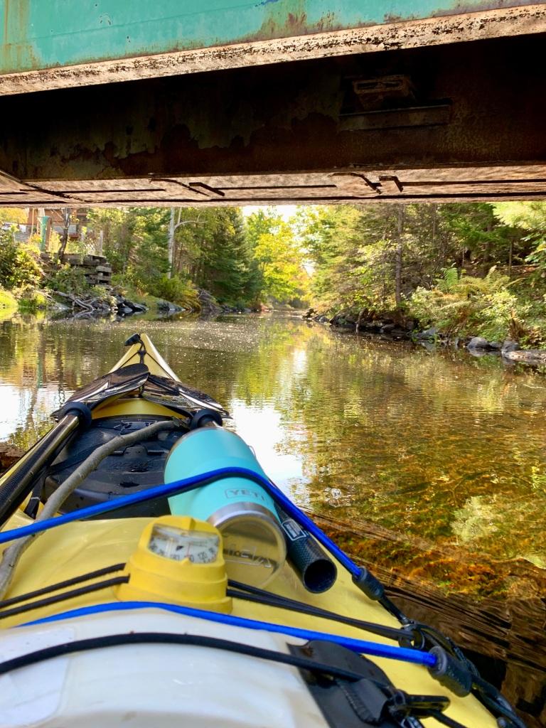 October 9th - Lake William, Waverley, Nova Scotia - Early Morning Autumn Paddle - Going under the bridge