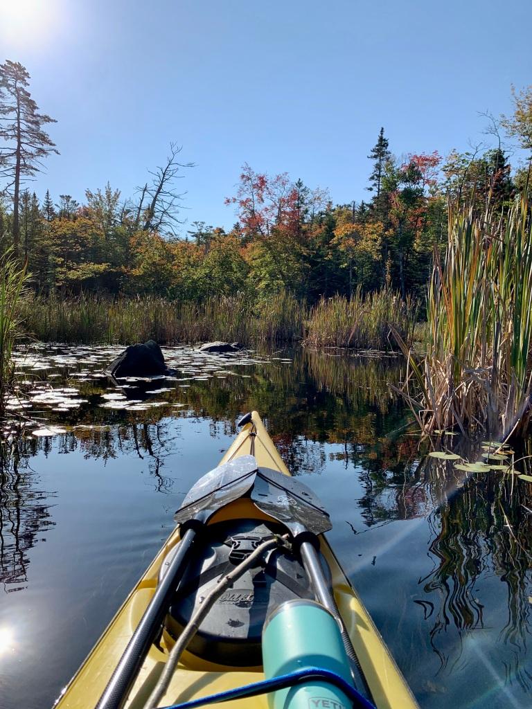 October 9th - Lake William, Waverley, Nova Scotia - Early Morning Autumn Paddle - Autumn Leaves